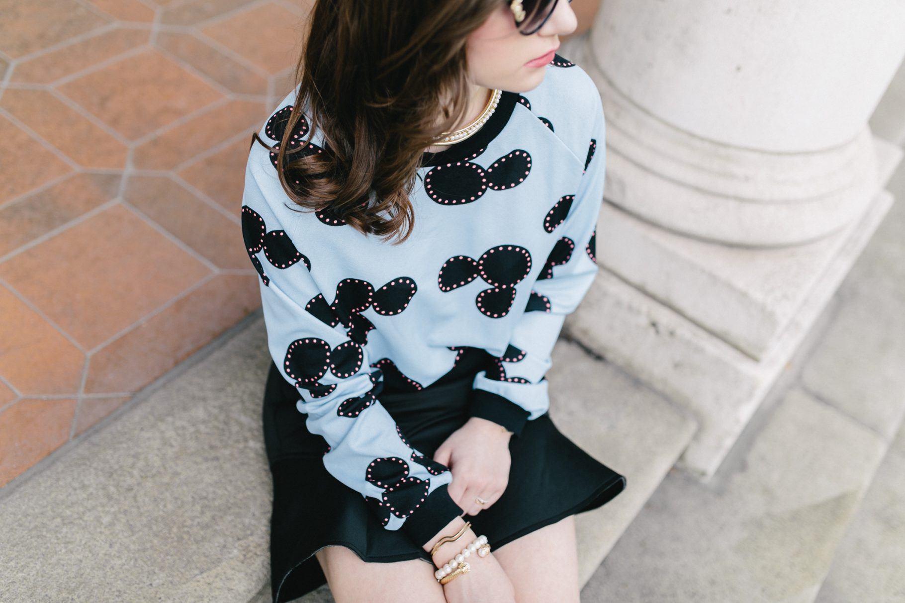Mickey Mouse Sweater & Peplum Rock