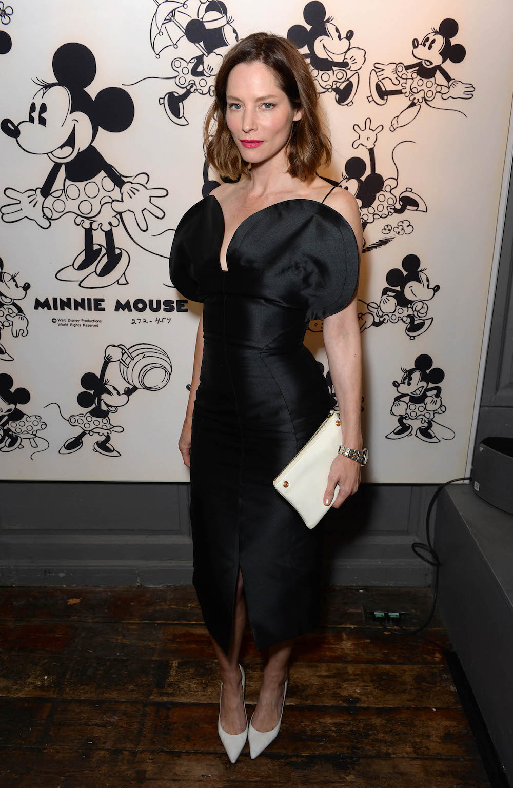 EDITORIAL USE ONLY Sienna Guillory arrives at Blacks Club in London, for the opening of new exhibition, Minnie: Style Icon, in partnership with the British Fashion Council, which will be on display at the Soho venue during London Fashion Week. PRESS ASSOCIATION Photo. Picture date: Friday September 18, 2015. The exhibition of exclusive photographs, exploring the character of Disney's Minnie Mouse and her influence on fashion and pop culture, has been curated with the help of model and photographer, Georgia May Jagger. Photo credit should read: Doug Peters/PA Wire