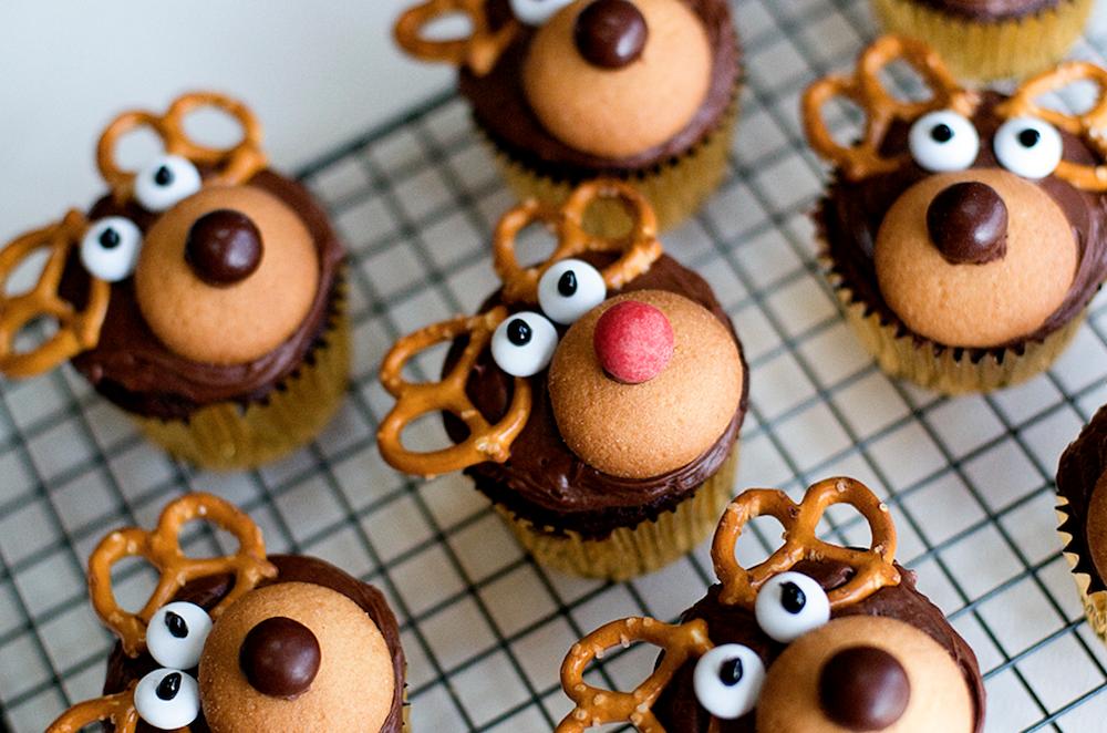 Reindeer Cupcakes Rentier Kuchen Weihnachts Geback Aussergewohnliche