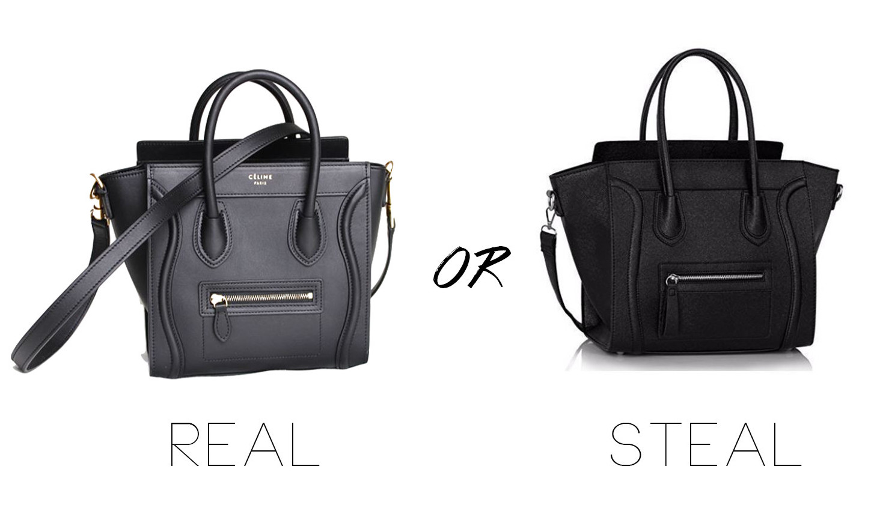 #REALORSTEAL – Celine Luggage Look a like