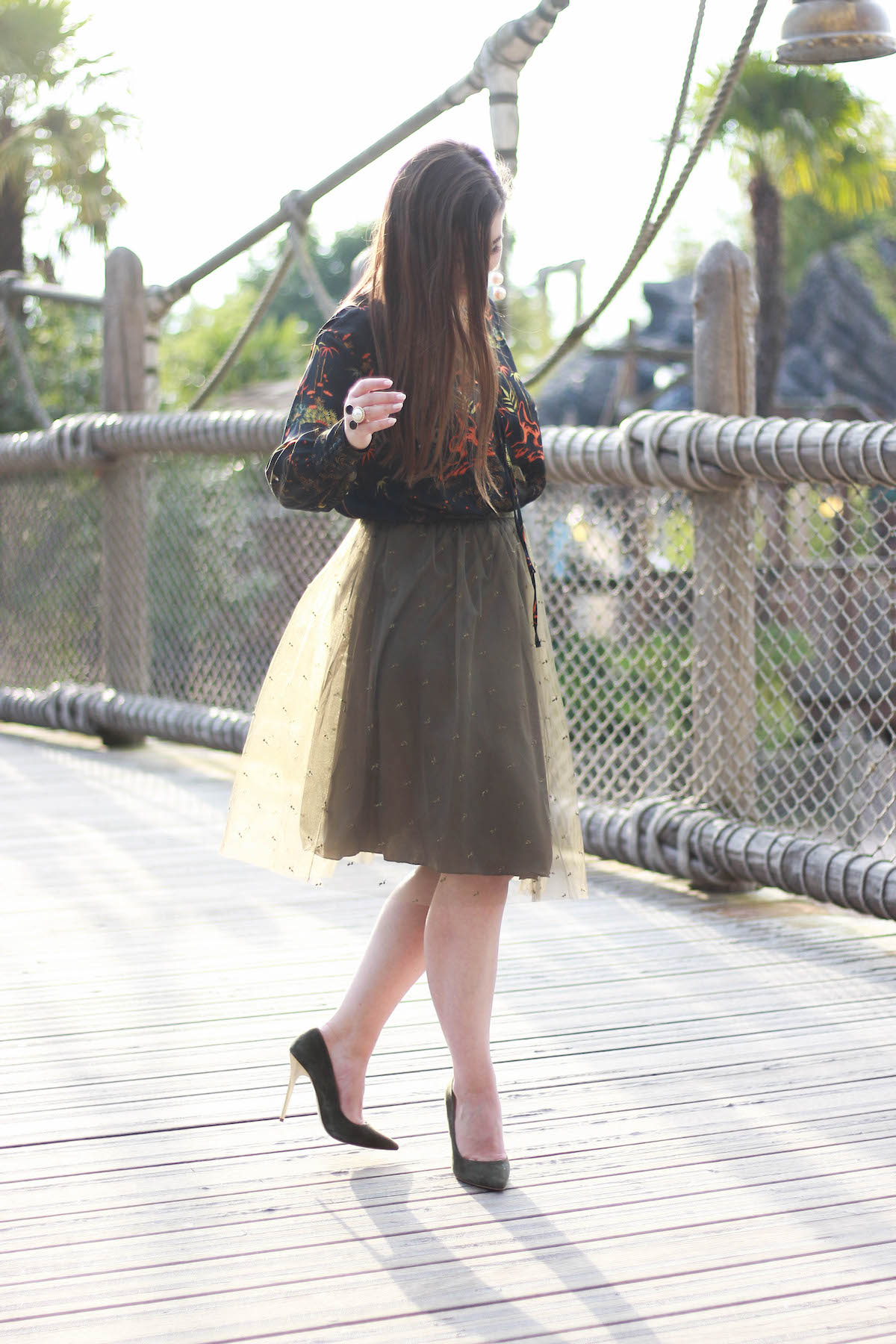 tuell-rock-gruen-zara-outfit-midi-skirt