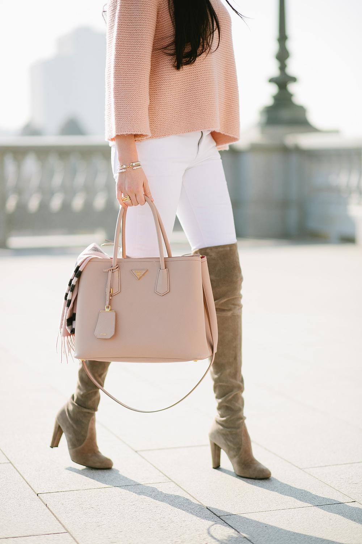 Nude Pink Prada Tasche von Rachel Parcell