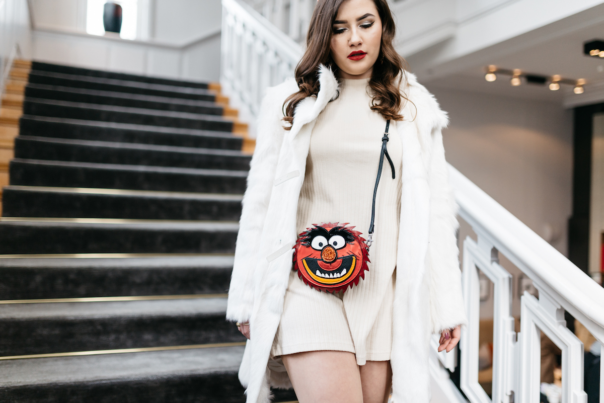 Essentiel Antwerp Muppets Mini Bag Outfit