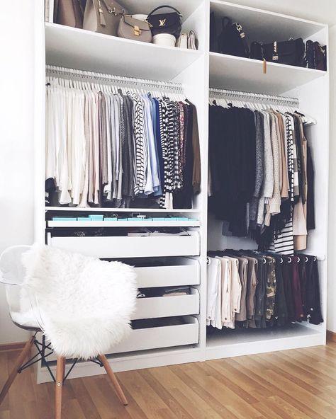 Ankleidezimmer beispiele  IKEA PAX Kleiderschrank kombinationen & Inspirationen - Sara Bow