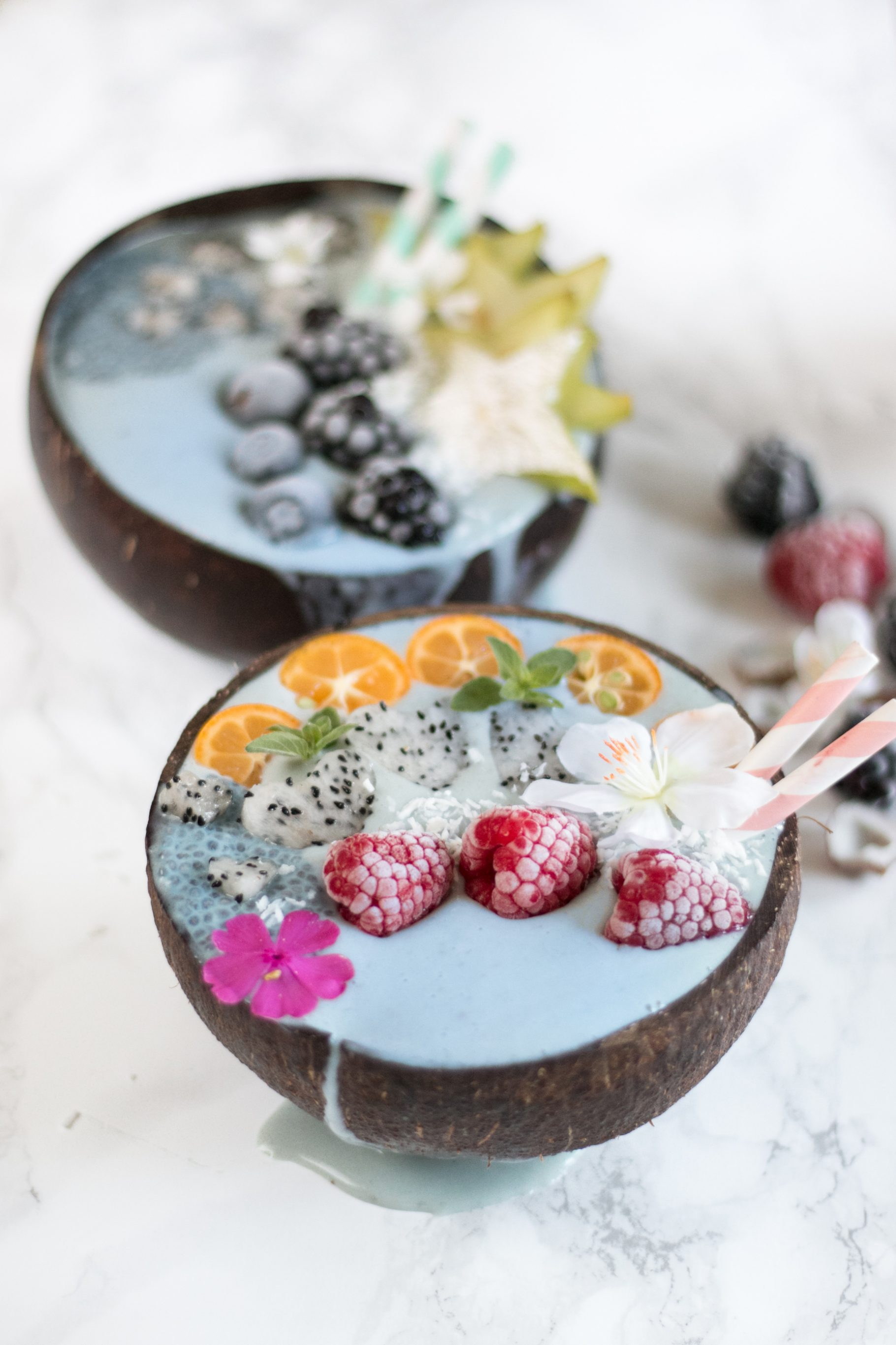 blaue Smoothie Bowl | Vegan