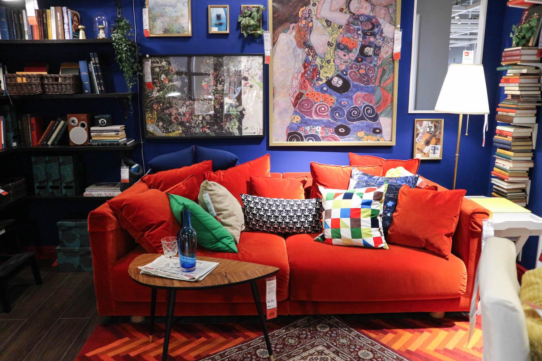 buntes-wohnzimmer-inspiration-frida-kahlo-ikea - Sara Bow