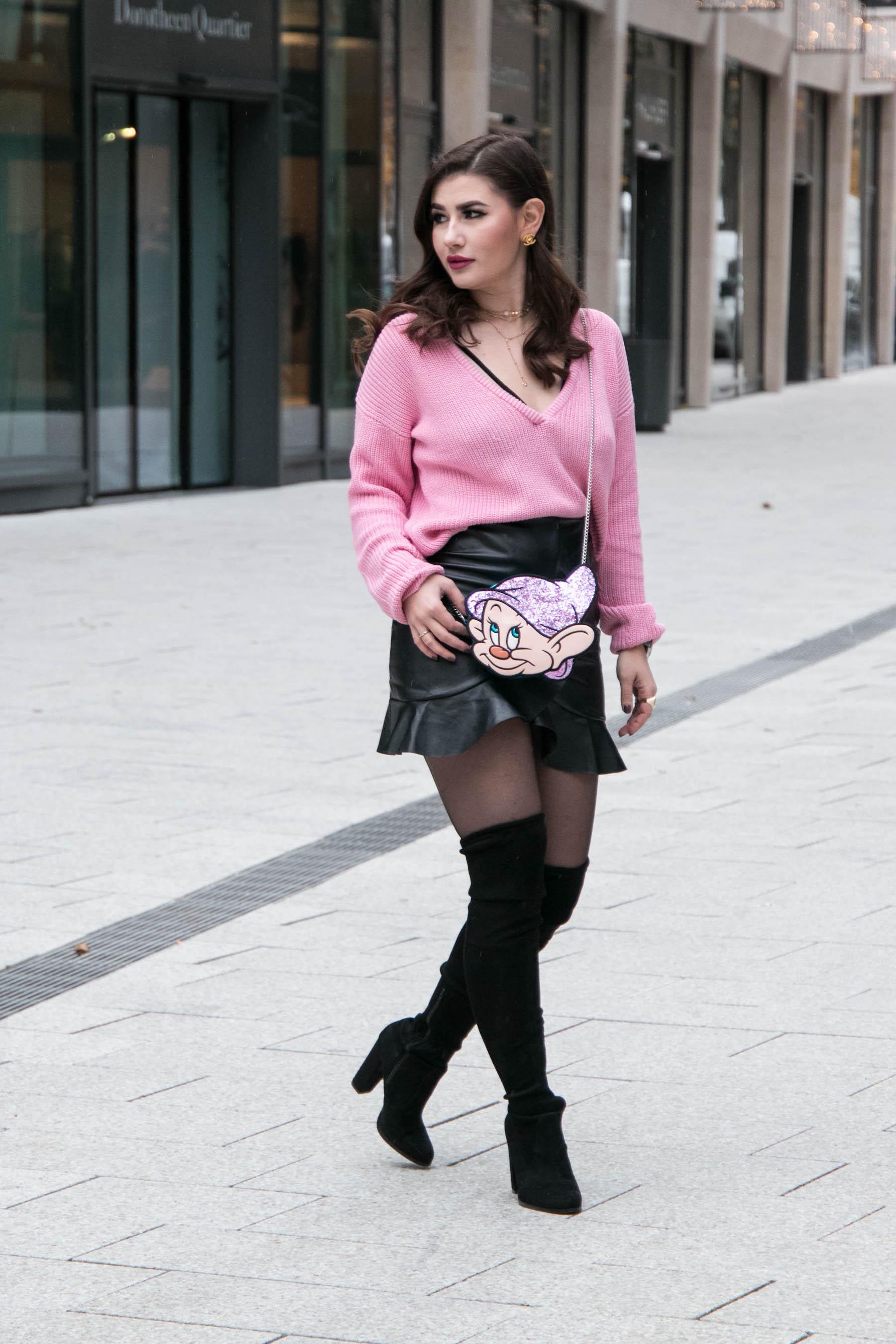 Outfit   Leder Rock & Danielle Nicole Disney Tasche